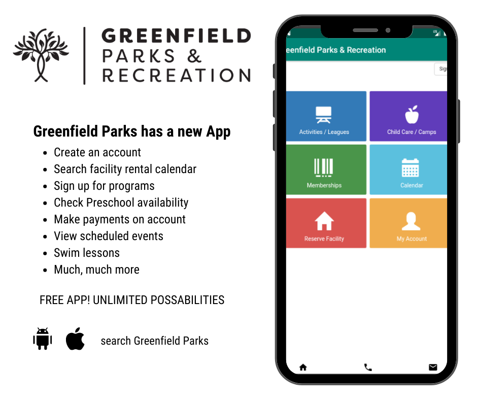 Greenfield Parks has a new App